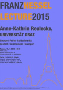 Plakat Hessel Lecture 2015